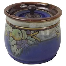 Royal Doulton Stoneware Lidded Tobacco Jar c1920's