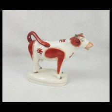 19th Century Staffordshire Pottery Cow Creamer
