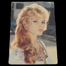 c1970 Brigitte Bardot Autograph Photo