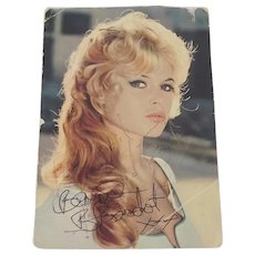 c1970 Brigitte Bardot Autograph Photo