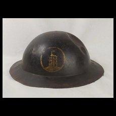 British Brodie Army Steel WW1 London Brigade Helmet