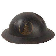 British Brodie Army Steel WW1 London Brigade Helmet