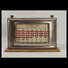 Sliver Plated Frame HeppetuIal Calendar