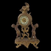 Victorian Ornamental Cherub Clock