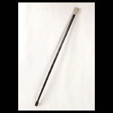 Indian Silver Capped Bamboo Walking Cane