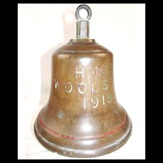 Bronze Ships Bell From HMS Woolston 1918 V & W Class Destroyer