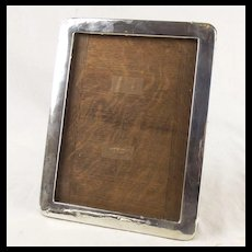 Birmingham 1920 Oak And Silver Picture Frame