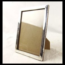 Birmingham 1917 Oak And Silver Picture Frame