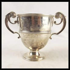 Victorian Silver Military Trophy - Adjutant's Cup