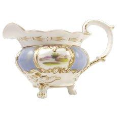 Minton c1830 Antique Hand-Painted Porcelain Creamer