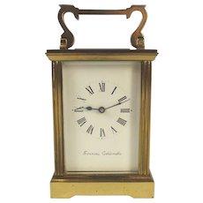 Elegant 1900s Brass Carriage Clock