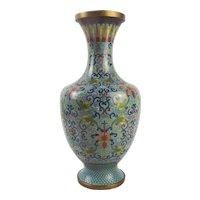 Chinese Cloisonne Enamel Alcove Vase