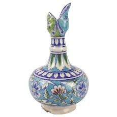 18th C Unusual Turkish Ceramic Wine Pourer