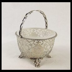 Antique Silver Bon Bon Basket London 1860