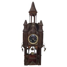 Early 20th Century Tramp Art Pendulum Clock