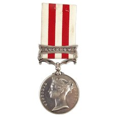 Indian Mutiny Medal 1858 LUCKNOW With Associated Paperwork