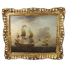 Thomas Luny 1770s Seascape Oil Painting
