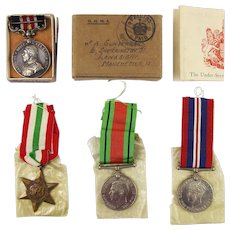 Father's Military Medal + Son's Italy Star, Defence Medal, British War Medal