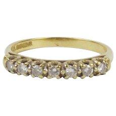18Ct Yellow Gold 0.20CTW Diamond Ring UK Size N+ US 6 ¾
