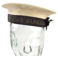 WW2 Royal Navy Seamans Cap HMS Barham