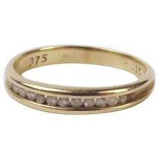 9Ct Yellow Gold Diamond Band Ring UK Size N+ US 6 ¾
