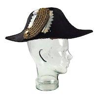 19th Century Bavarian Officials Officers Bicorne Hat