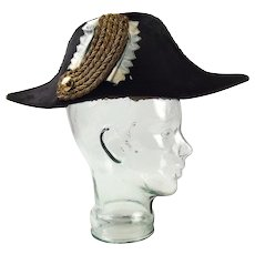 19th Century Bavarian Officials Officers Bicorne Hat