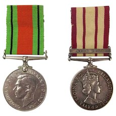 RN Naval General Service Medal With Near East Clasp & Defence Medal