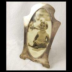 Antique Silver Picture Frame Birmingham 1915 Lawrence Emmanuel