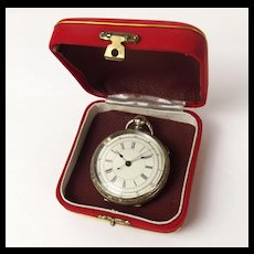 Large Silver Pocket Watch With Stop Watch Function
