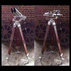 WW2 German 10x80 Flak Field Binoculars With Tripod