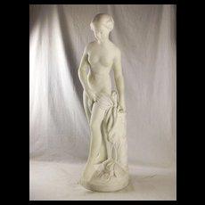 Falconets Bathing Venus White Marble Statue By Poletti & Ghio