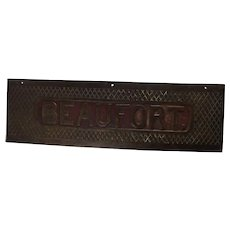 Bronze Treadplate From HMS Beaufort