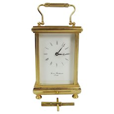 Thomas Braithwaite Gilt Brass Carriage Clock