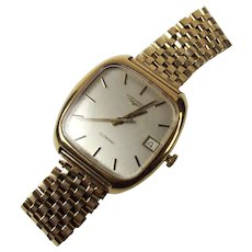 Gents 9Ct Gold Longines Wristwatch