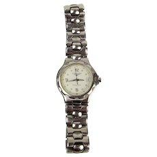 Ladies Stainless Steel Longines Conquest Quartz Wrist Watch With Original Box