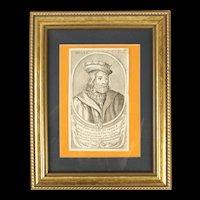 Framed Portrait of Childeric III - The Phantom King Of The Franks