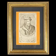 Framed Portrait of Childeric III - The Phantom King Of The Franks