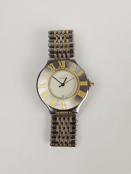 025d782efeb4 Cartier 21 Must De Cartier Quartz Wrist Watch   The Antiques Storehouse