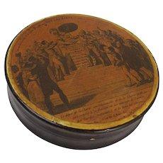 c1830 French Papier Mâché Snuff Box