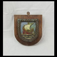 HMS Voyager 1918 Boat Badge