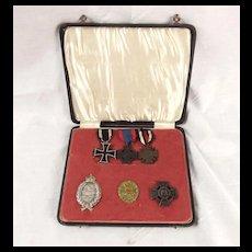 WW1 German Pilot Observers Medal Set