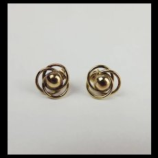 Pair Of 9ct Yellow Gold Earrings