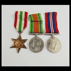WW2 Medal Trio Including The Italy Star