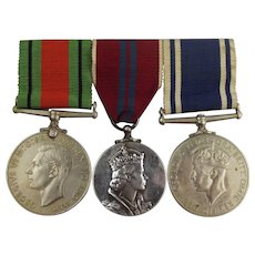WW2 & Post War Police Medal Trio Awarded To Sergeant Cyril P. Smith
