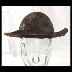 c1860 Leather Miners Hat