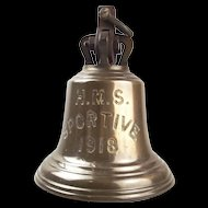 HMS Sportive 1918 S Class Destroyer Bronze Ships Bell And Rope