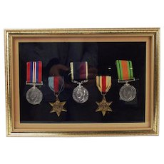 Framed Set Of Five WW2 Medals – W/O.  J.Jones. (511949). R.A.F.