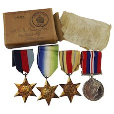 WW2 Medal Set With Original Box – Pennington