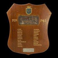 HMS Gurkha WW2 Battle Honours Board
